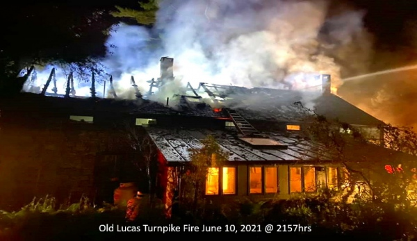 Mutual Aid to Bloomington Old Lucas Turnpike Structure Fire 6/10/2021