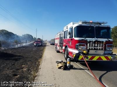 Vehicle & Grass Fire