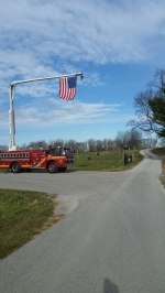 Today we were honored to escort the funeral procession of Reggie Gosman. Reggie was a huge supporter of our Fire Department and built several things around the station for us and never asked for anything in return. Several members of Reggie's family are previous Firefighter's including former Chief Ronnie Barnes. Reggie was family to us and will be greatly missed.