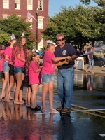 Regatta Pageant contestants got to spray water with Kenny Washer.