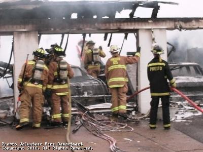 Labor Day garage fire
