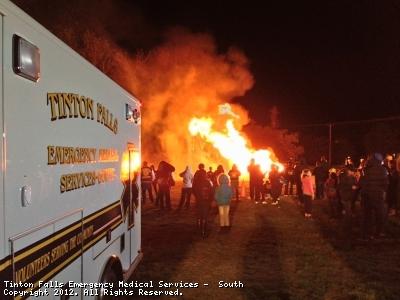 Tinton Falls EMS-South at a standby at Liberty Park II for the Pop Warner bonfire.