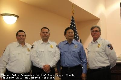 1st Lt Goldy, 2nd Lt. McBride, Sgt. Chu, and Capt. duBois