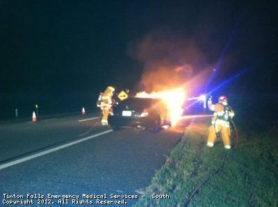 Car Fire and MVA