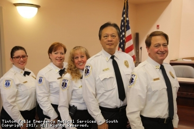 Swearing In Ceremony - 1/1/2017 - Tinton Falls EMS South Line Officers