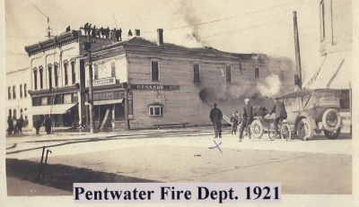 The G.T. Sands building was next to the current Village/Township Hall.  Now Bell Park.