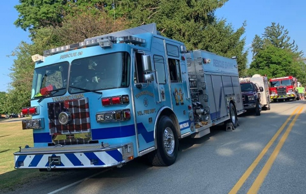 YVFD Rescue-Engine Participates in Chestnut-Ridge VFD Annual Parade
