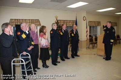Chief Eric Morgan, Assistant Chief Darrell White, President Mike Wachter, Vice President Belinda White, Secretary Rick McDonald, Parliamentarian P.W. Morgan, and Treaurer Norm Walker