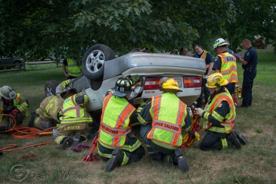 Motor Vehicle Crash with Rescue.