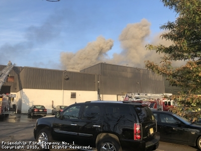 On October 1st, 2018 at approx.. 7:10AM Logan Twp. was dispatched for an alarm system at 501 Sharptown Road an industrial facility. While 1800 (Chief Oatman) was responding the alarm was up graded to a building. He arrived with heavy smoke showing from the building. 1800 filled the box and striking the 2nd alarm. 511 arrived on scene with a crew of 4 as the RIT team, third engine on location. Crews found a machine that was on fire that may have extended to the roof and also caught some pallets on fire. 511 was on scene for approx.. two hours before returning to station with no injuries reported.