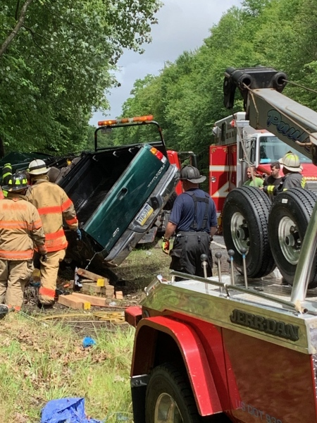 Banks Twp crash-Extended rescue operation