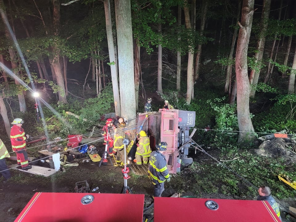 Crash with heavy entrapment-Mutual Aid