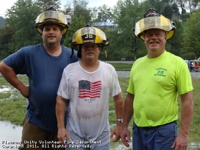 "PUVFD firefighters Matt Keslar, John Keslar and Mike Keslar made up ""Team Keslar"" AKA ""the Old Team""."