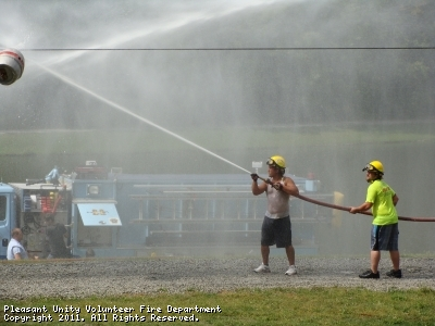 PUVFD firefighters entered two teams in the 2010 Battle of the Barrel contest.