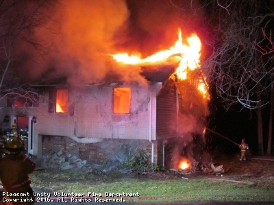 Christmas Early Morning House Fire Assist in Wimmerton Section of Unity Township