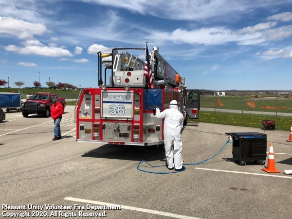 Fire Trucks Disinfected