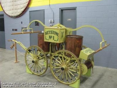 Keystone's Orignal Hand Drawn Pumper Back in the Engine Room