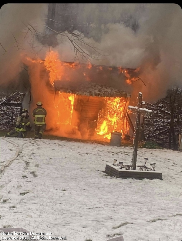 Mid-Afternoon Outbuilding Fire
