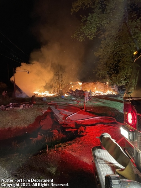 Fully Involved House Fire