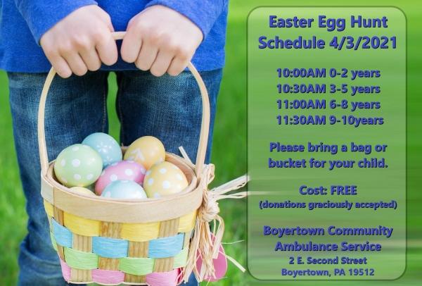 Eggstravaganza & Egg Hunt Schedule