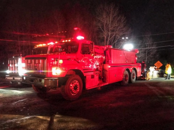 Tanker Operates at Monroe Fire
