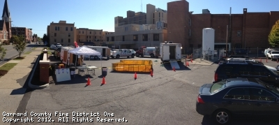 GCFD #1 provides Decontamination for Vice Presidential Debate