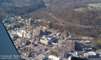 Conemaugh Health Systems, Johnstown PA from the air