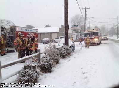 Surprise snow keeps volunteers busy.
