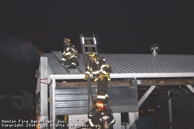 Chimney Fire Drill 10/28/2014