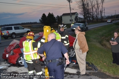 MVA with injuries, Drake Road and Roosevelt Highway 4:40PM Nov 11, 2104