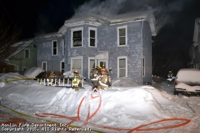Structure Fire 75 Spring Street, Mutual Aide to Brockport 3:00 AM