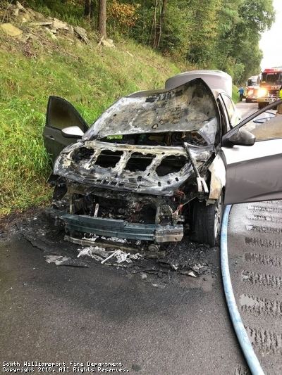 Vehicle Fire in Armstrong Township