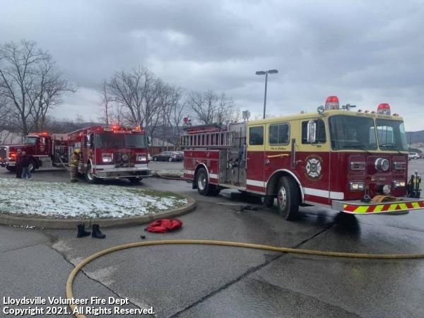Car fire on Saint Vincent Campus