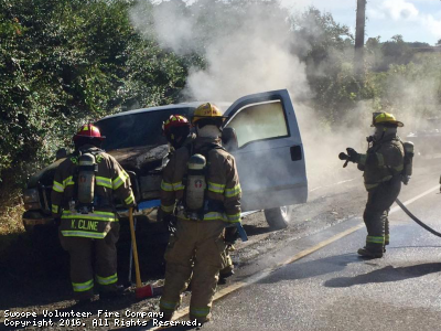 Vehicle Fire - 400 Block of Parkersburg Turnpike