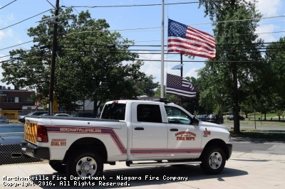 Merchantville Fire Department added a thin blue line to all of our apparatus to show our support to our brothers in blue.