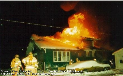 Major Incidents of the Snyder Fire Department