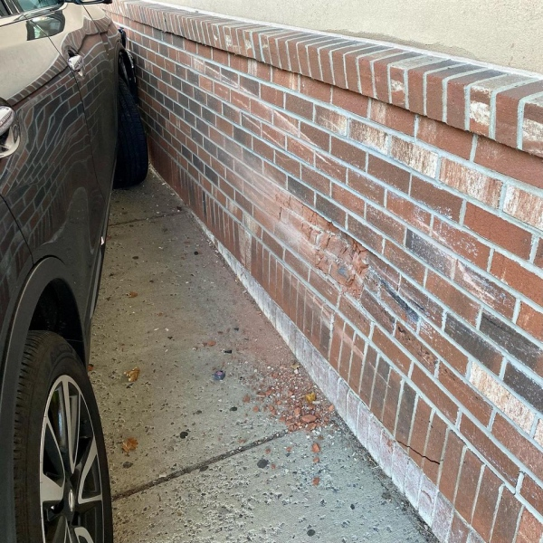 Motor Vehicle Accident - Car Struck Commercial Structure