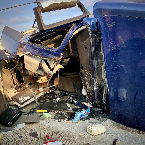 Tractor-Trailer Roll-Over Accident