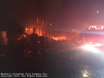 District Dispatch for Working Barn Fire