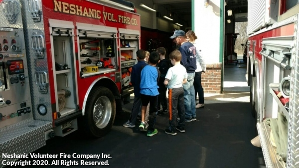 Cubscout Pack Visits Fire House