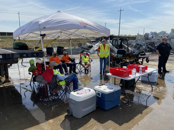 Athletes Way - cleanup from tornado