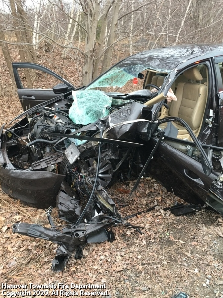Car strikes Tractor Trailer near Chewy Fulfillment