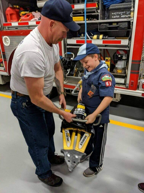 Hanover Township Cub Scouts visit Fire Headquarters