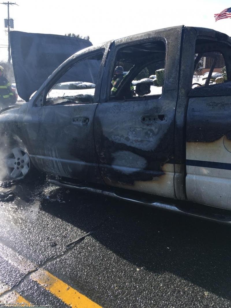 Truck Fire Shrewsbury Ave.