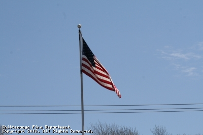 American Flag at Fire Station