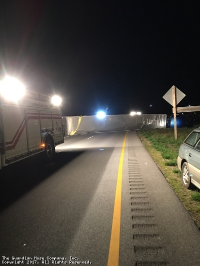 Overturned Tractor Trailer on Route 15