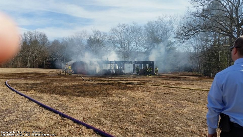Structure fire on US Rte 209