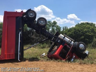 FM 690 Dump truck wreck