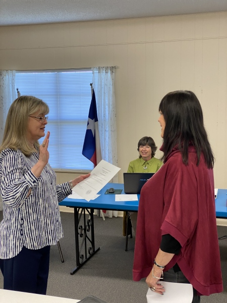 New ESD Commissioner sworn in.