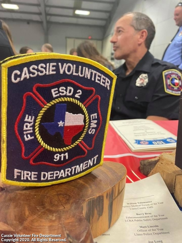 Hill Country 100 Club Firefighter of the Year